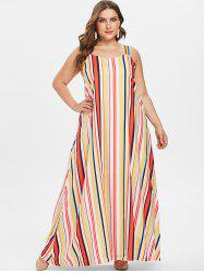 Colorful Stripes Plus Size Dress -