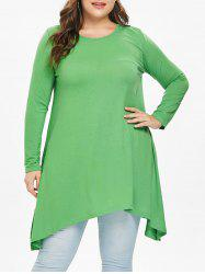 Asymmetric Plus Size Full Sleeve T-Shirt -