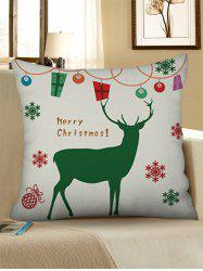Christmas Snowflakes Elk Printed Pillow Case -