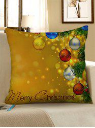 Christmas Baubles Printed Pillow Case -