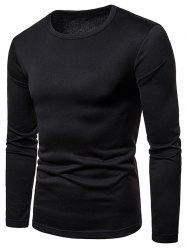 Long Sleeve Whole Colored T-shirt -