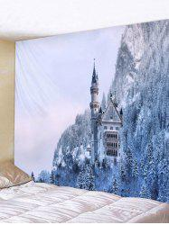 Snow Forest Wall Tapestry Art Decoration -