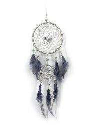 Handmade Feathers Fringed Dream Catcher Wall Hanging -