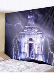 Lightning Castle Print Wall Tapestry Art Decoration -