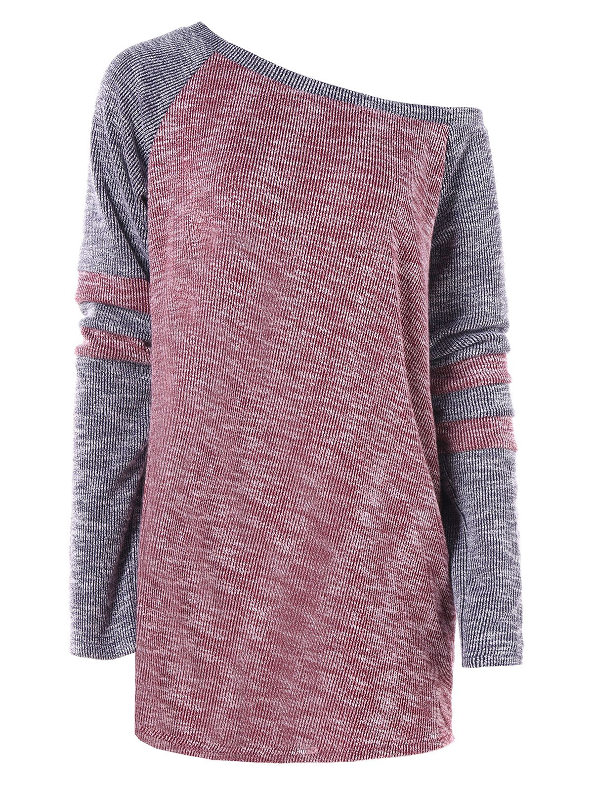 Unique Color Block Tunic Knitwear