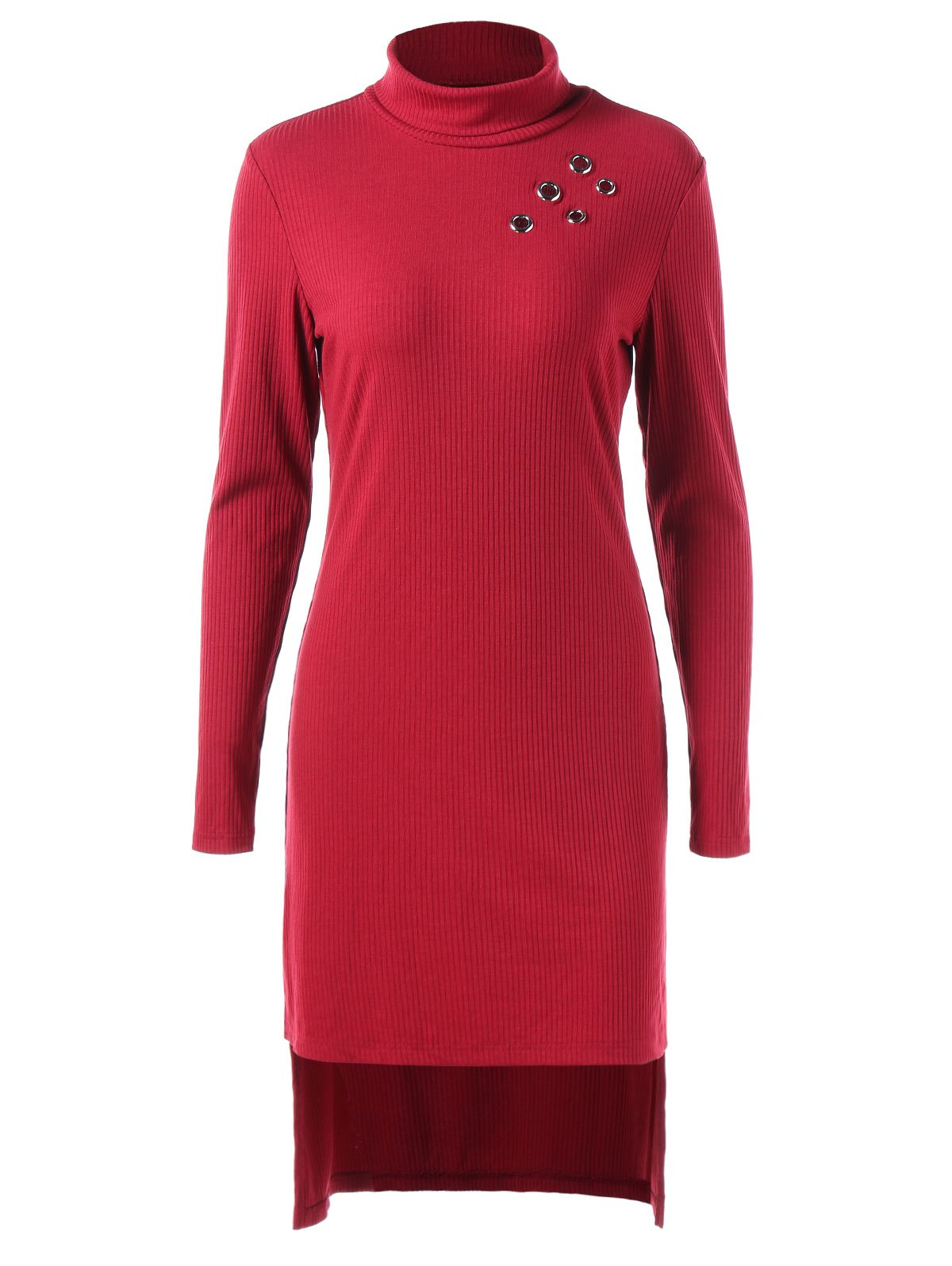 New Full Sleeve High Low Knit Dress
