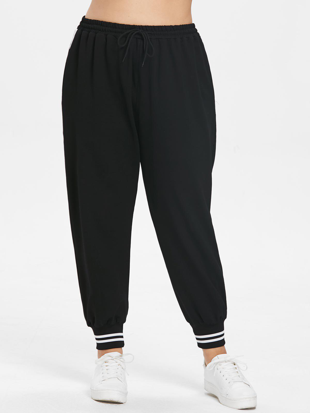 Shops Plus Size Striped Detail Jogger Pants