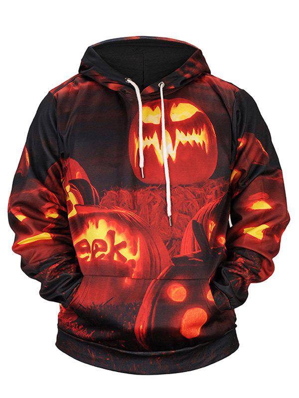 Fashion Pumpkin Lamp Print Halloween Hoodie