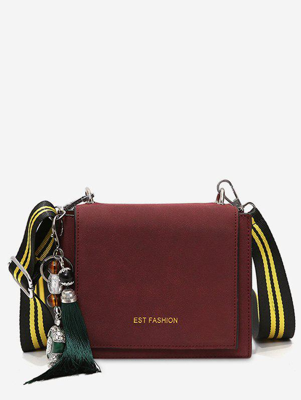 Unique PU Leather Tassel Crossbody Bag