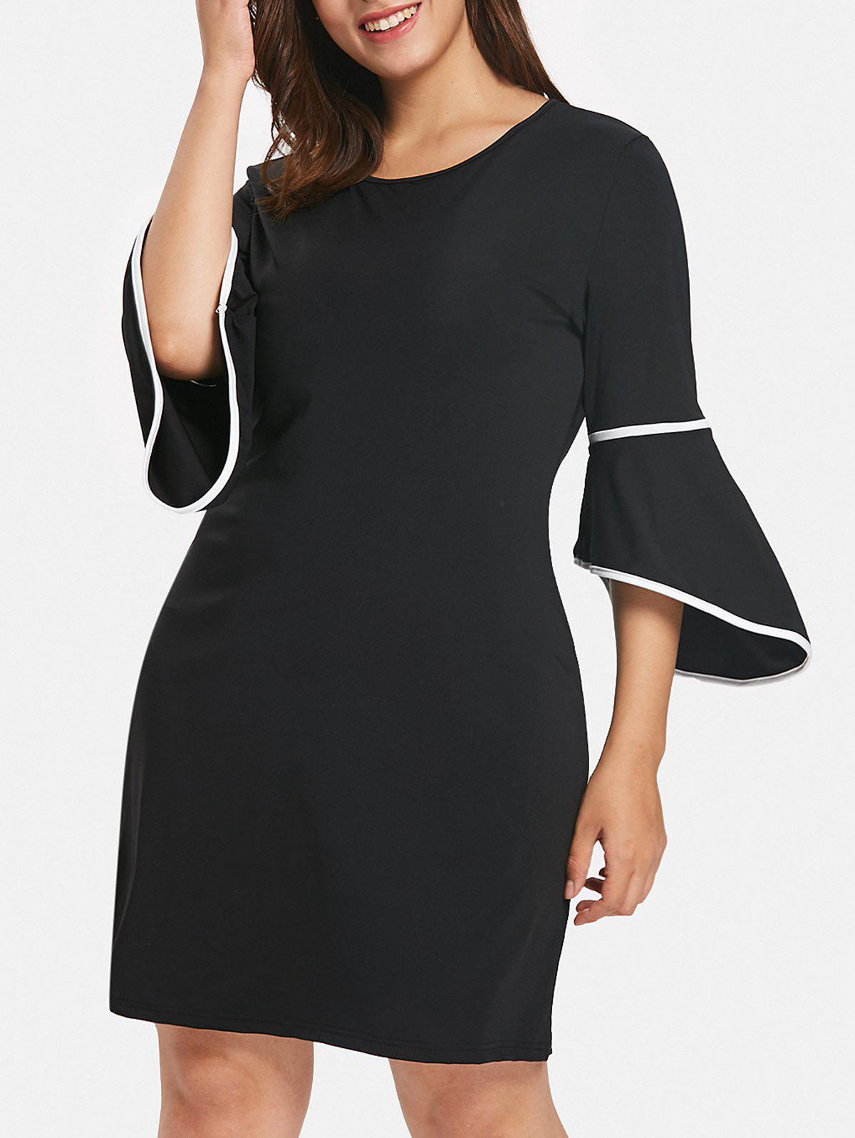 Buy Plus Size Casual Knee Length Dress