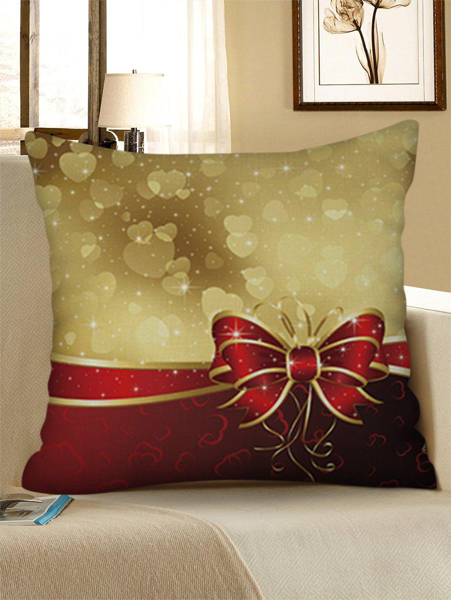 Store Love Heat Print Christmas Bowknot Pattern Pillowcase