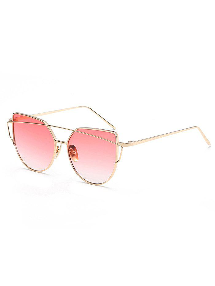 Trendy Anti Fatigue Crossbar Flat Lens Sunglasses
