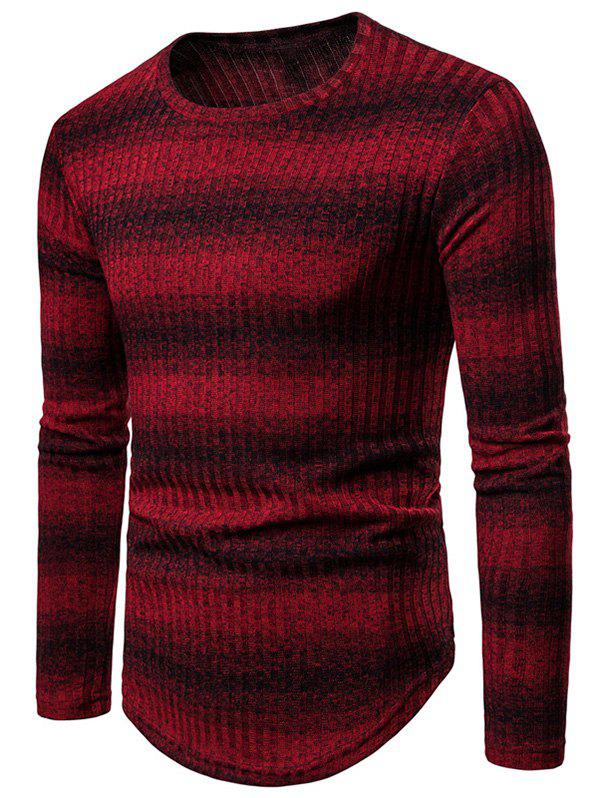 Unique Striped Round Neck Casual Sweater