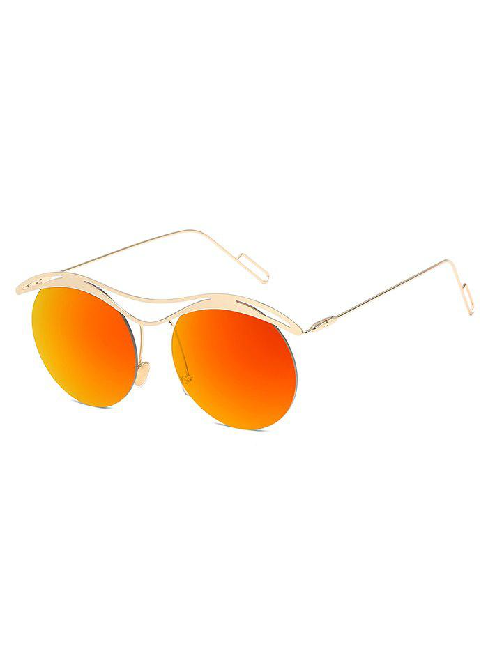 Shop Vintage Round Lens Rimless Sunglasses
