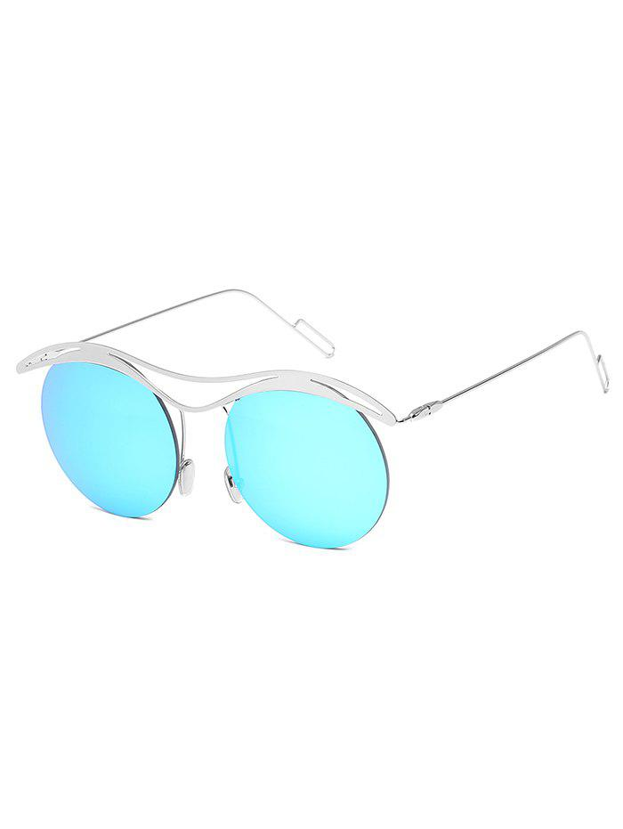 Outfits Vintage Round Lens Rimless Sunglasses