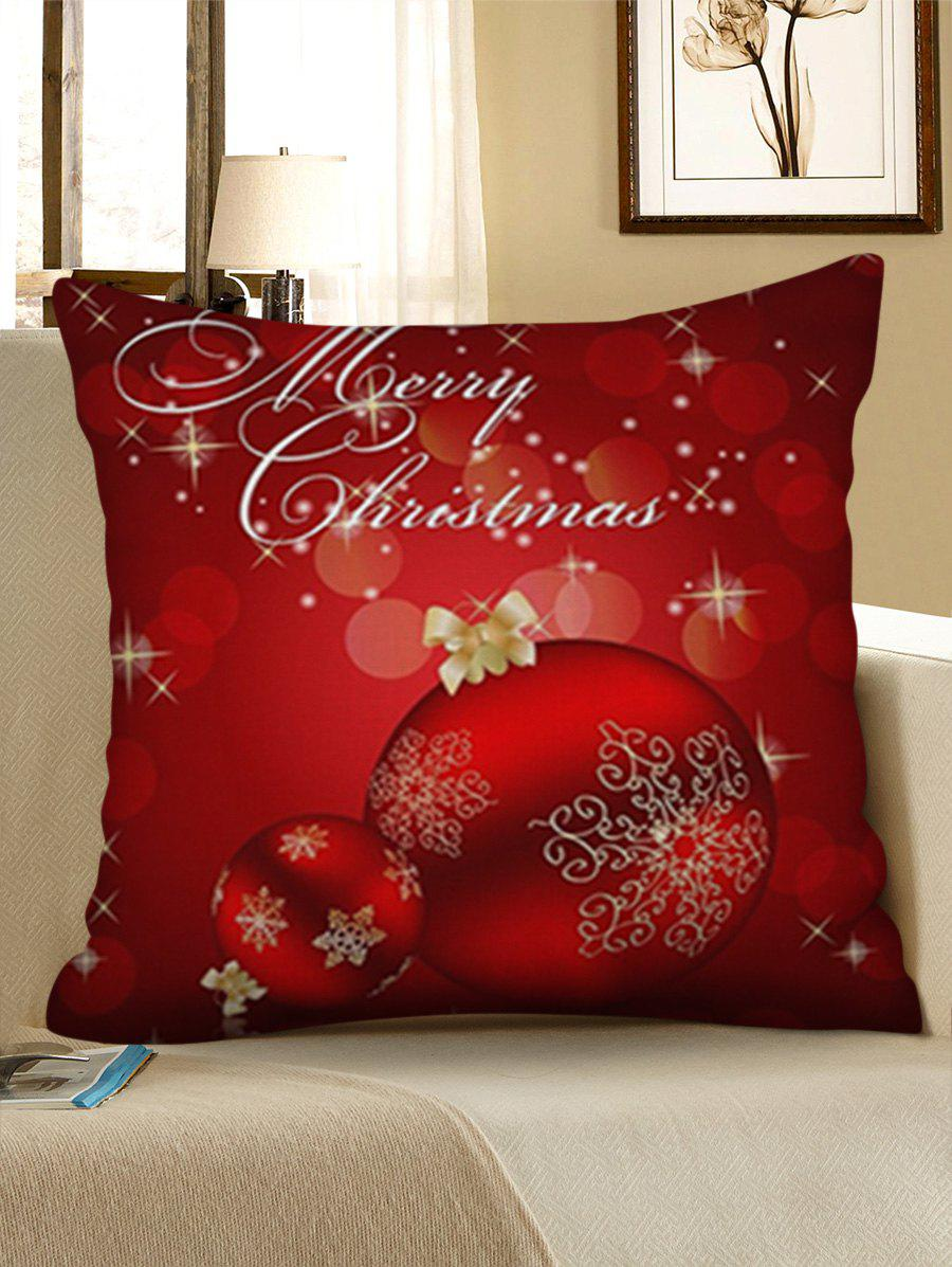 Store Christmas Snowflakes Baubles Pattern Throw Pillow Case