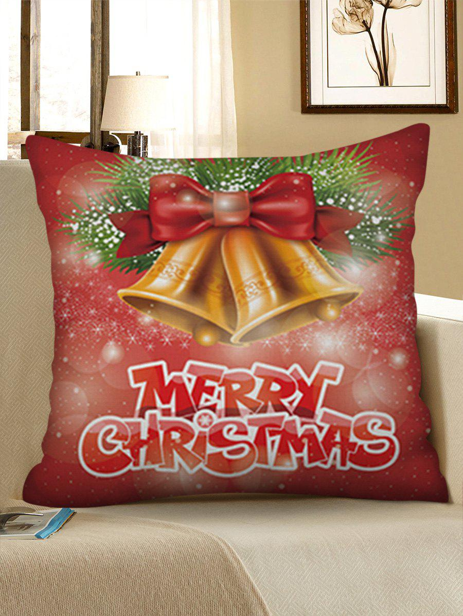 Fancy Christmas Bells Pattern Throw Pillow Case Home Decor