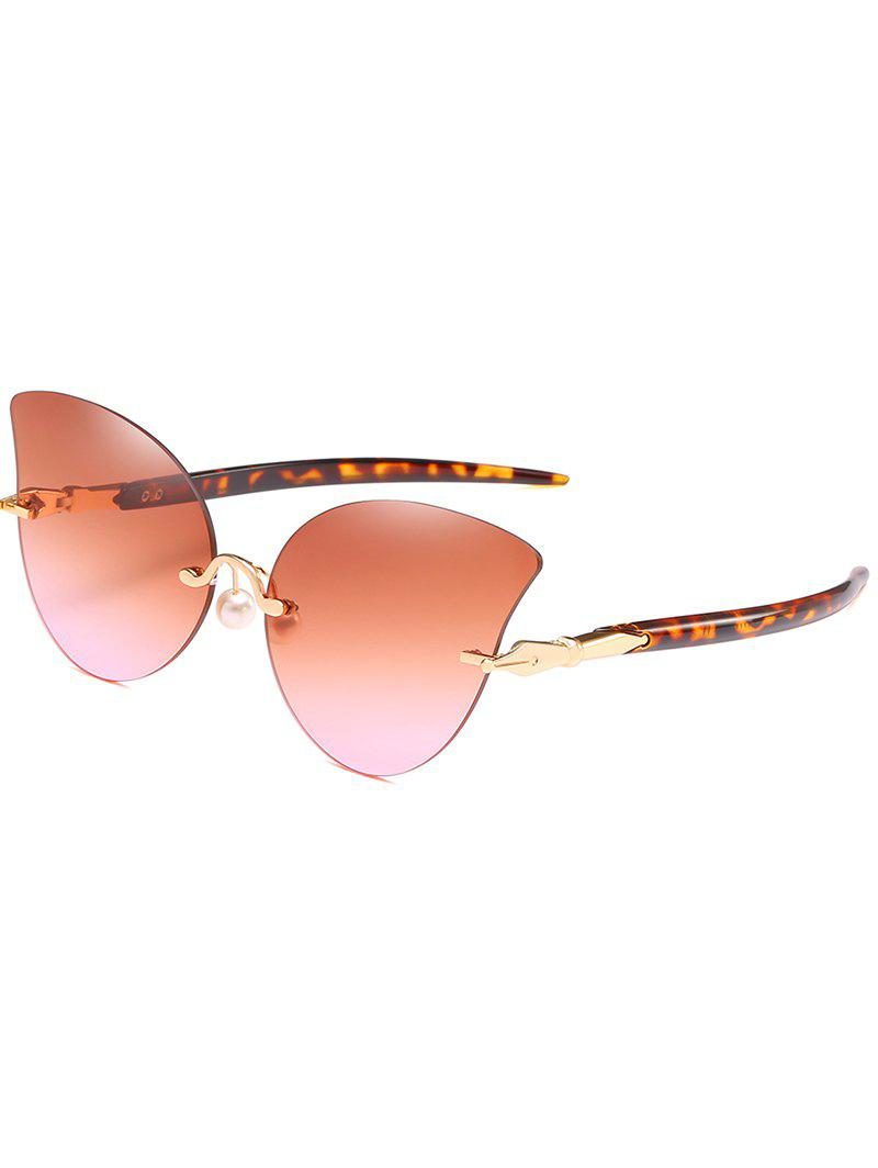 Buy Vintage Faux Pearl Nose Pad Butterfly Sunglasses