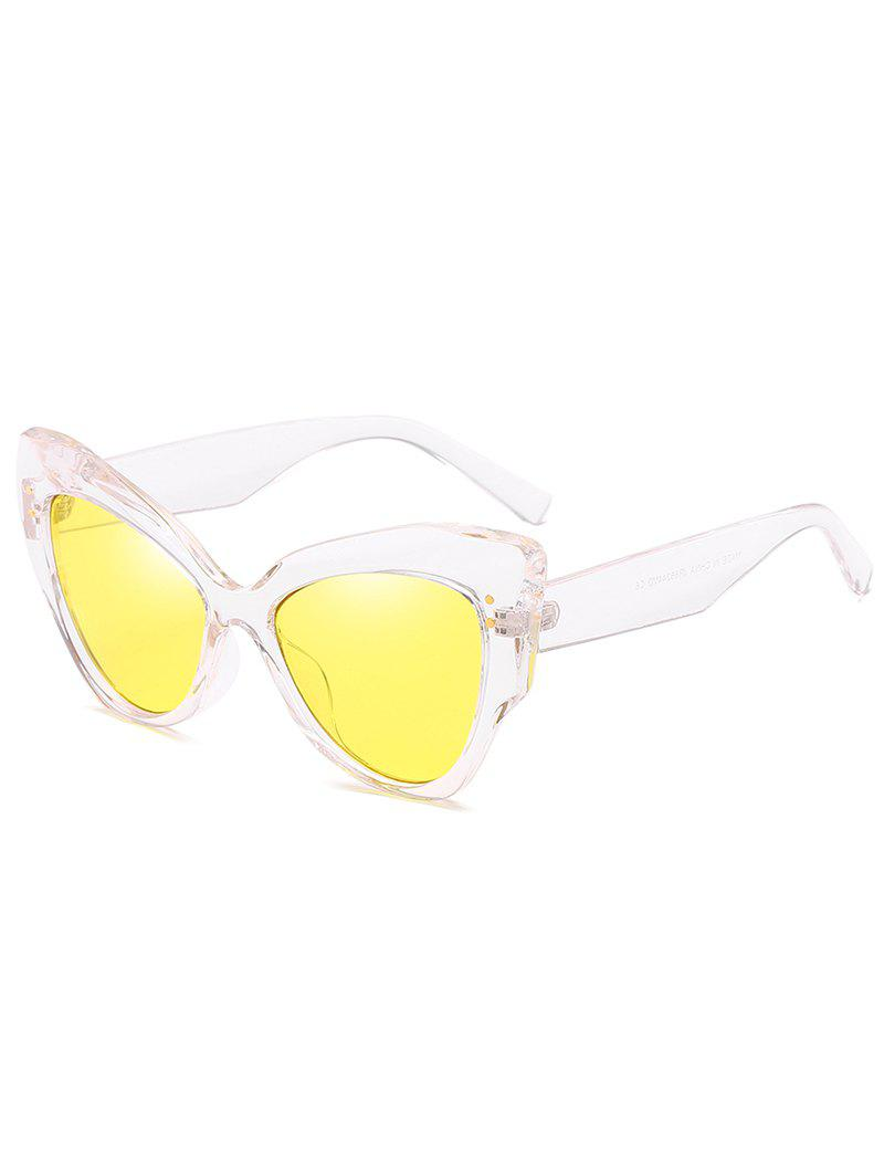 Affordable Vintage Full Frame Rivets Catty Sunglasses