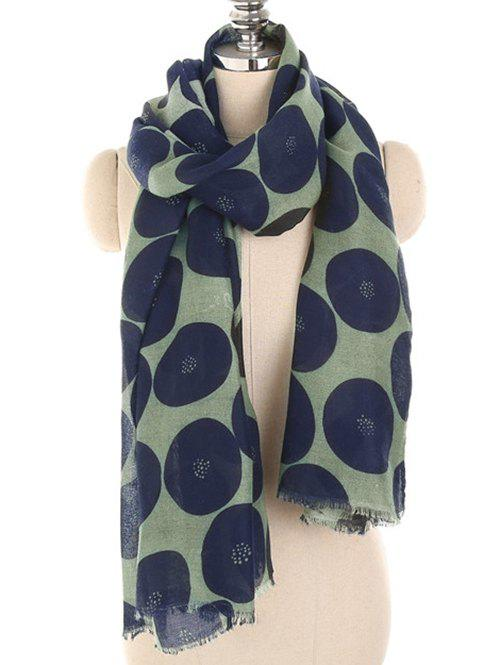 New Stylish Polka Dot Printed Warm Scarf