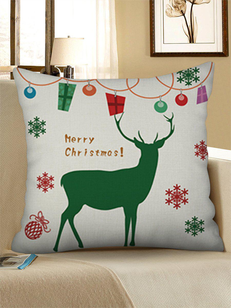 Shop Christmas Snowflakes Elk Printed Pillow Case