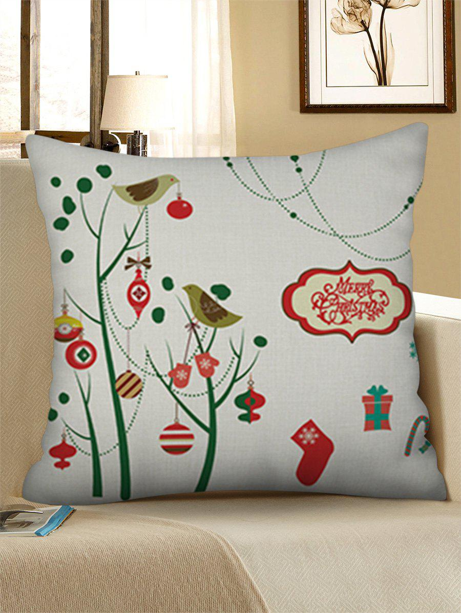 Fancy Christmas Decorations Print Pillow Case