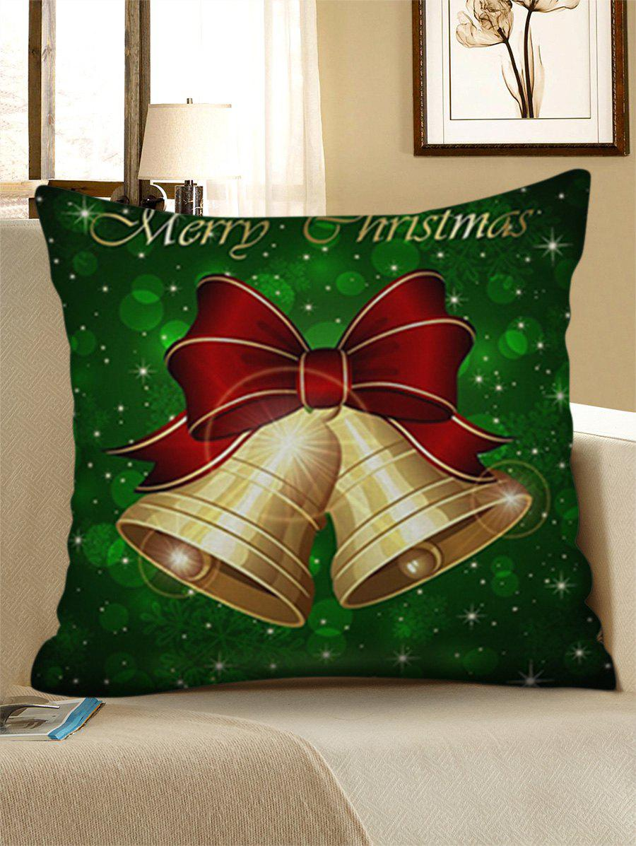 Buy Merry Christmas Bells Print Decorative Linen Pillowcase