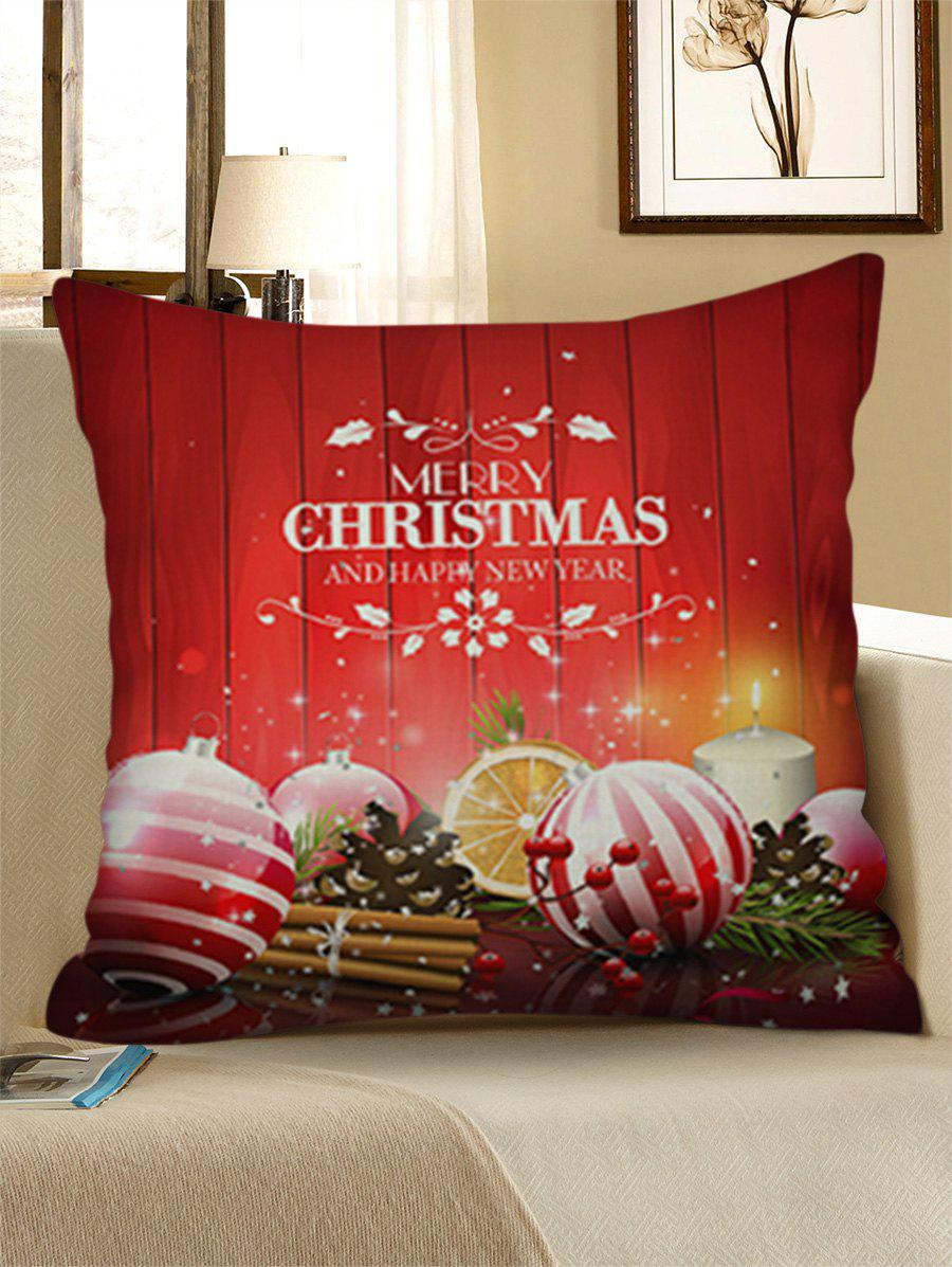Shops Christmas Ball Print Decorative Linen Pillowcase