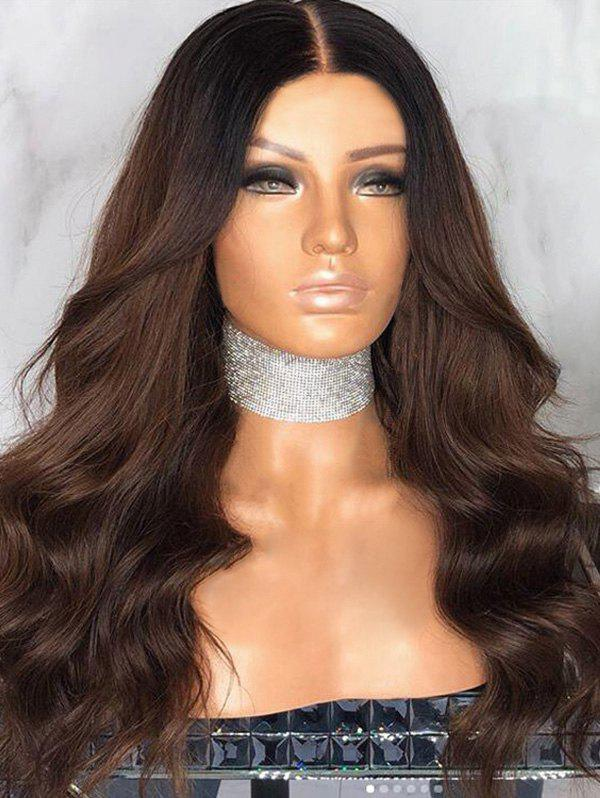 Best Long Middle Part Ombre Wavy Synthetic Wig