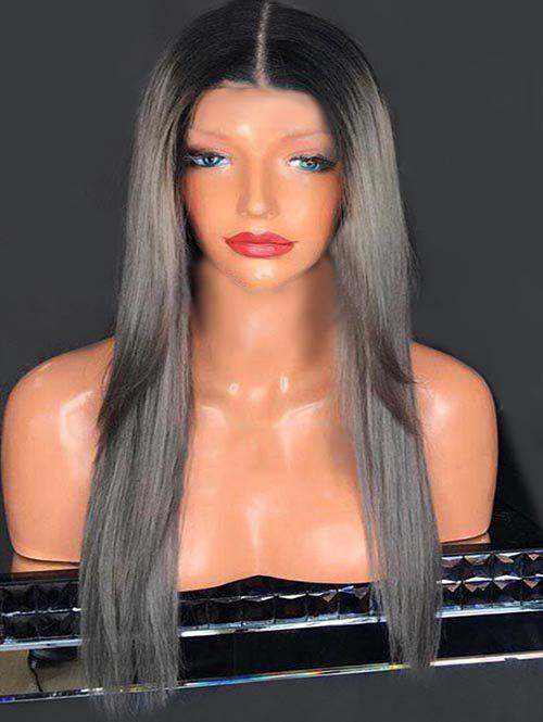 Discount Center Parting Long Colormix Straight Synthetic Wig