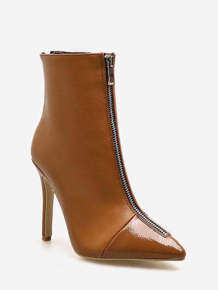 Latest Front Zip Stiletto Heel Short Boots