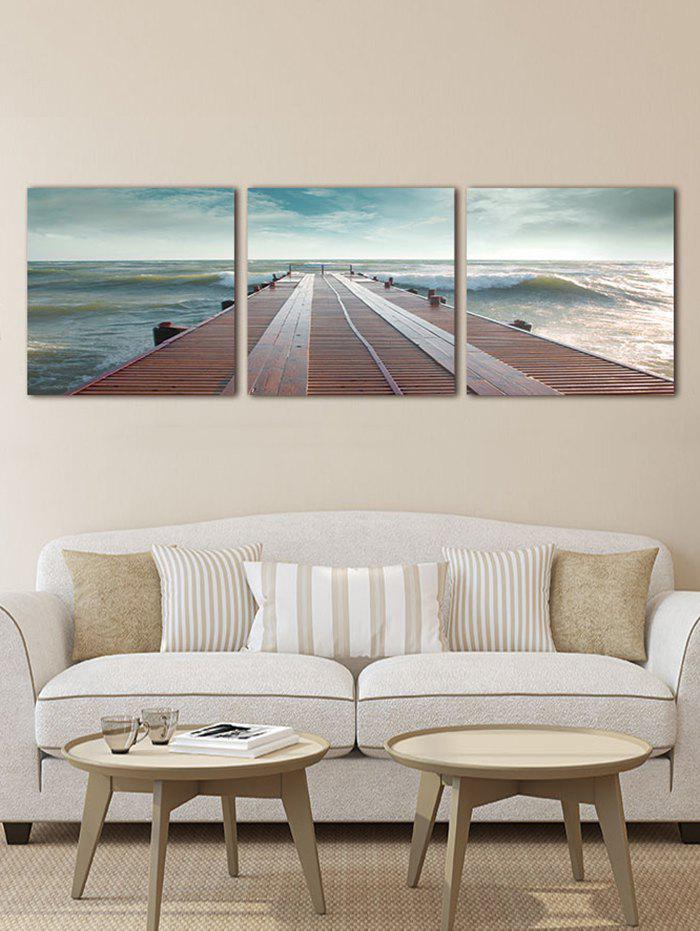 Discount Seaside Fridge Print Unframed Split Canvas Paintings