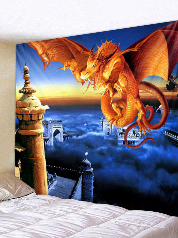 Affordable Fly Dragon Print Wall Tapestry Art Decoration