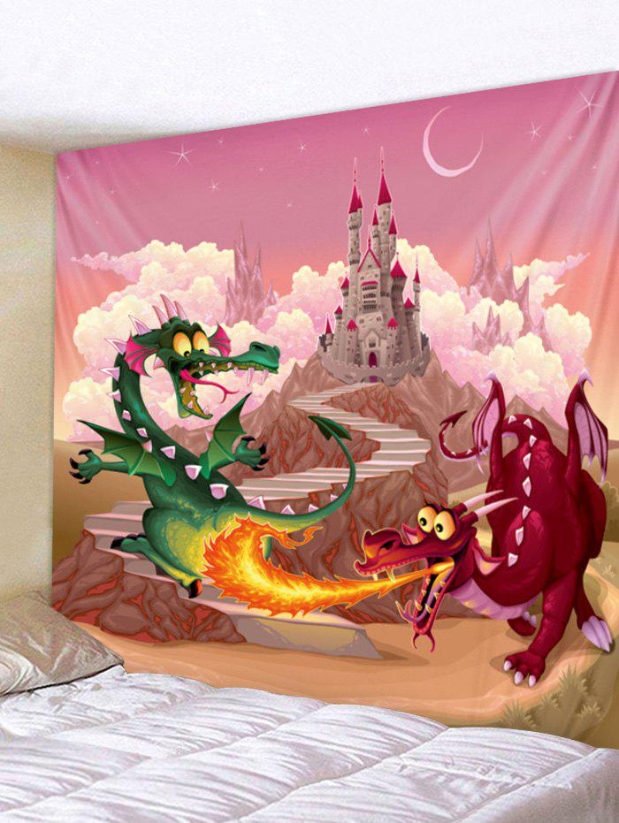 Chic Dragon Castle Print Wall Tapestry Art Decoration