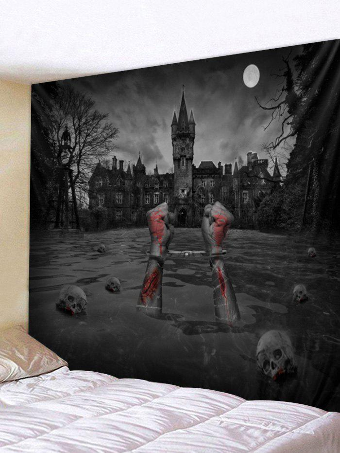 Outfits Halloween Skull Blood Printed Wall Tapestry Decoration