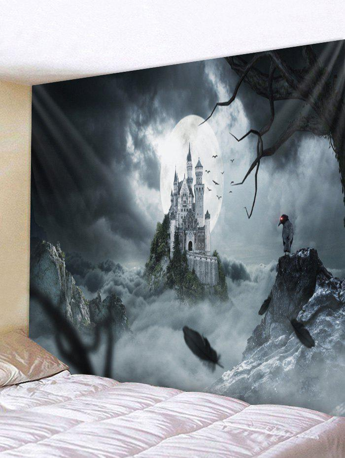 Hot Wall Hanging Art Halloween Night Castle Print Tapestry