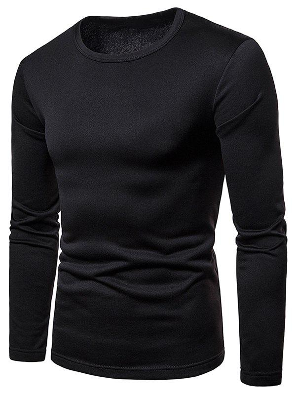 Fancy Long Sleeve Whole Colored T-shirt