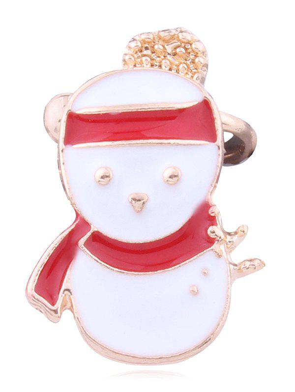 Outfit Alloy Christmas Snowman Clip Earring