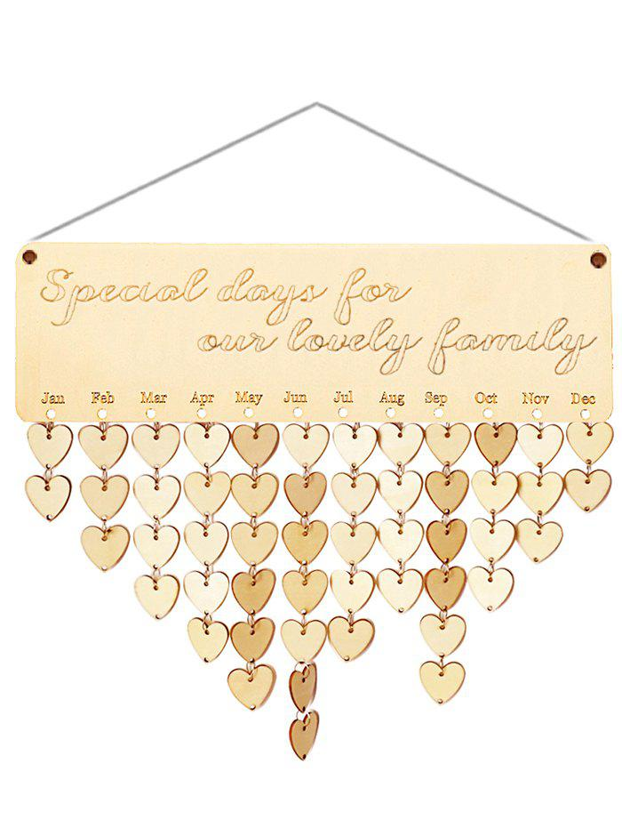 Fashion Wooden Lovely Family Calendar Reminder