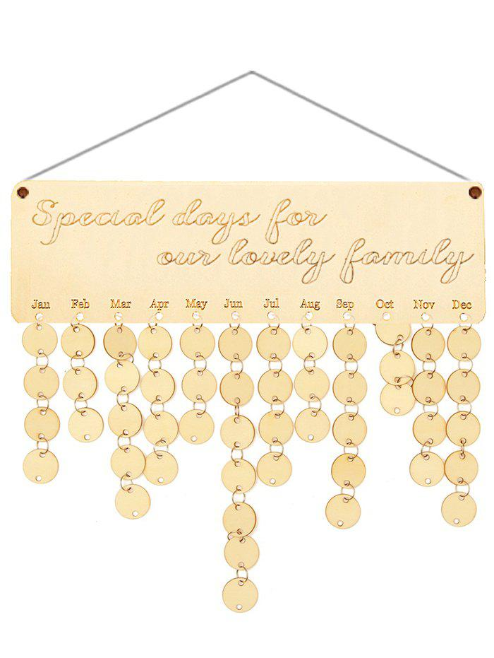 Shop Wooden Lovely Family Calendar Reminder