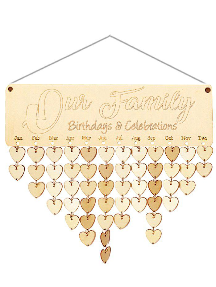 Fashion Wooden Our Family Calendar Reminder