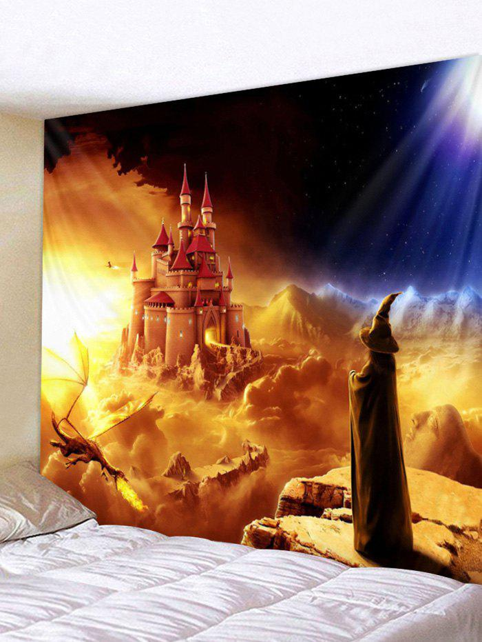 Shop Halloween Wizard Castle Print Wall Tapestry Art Decoration