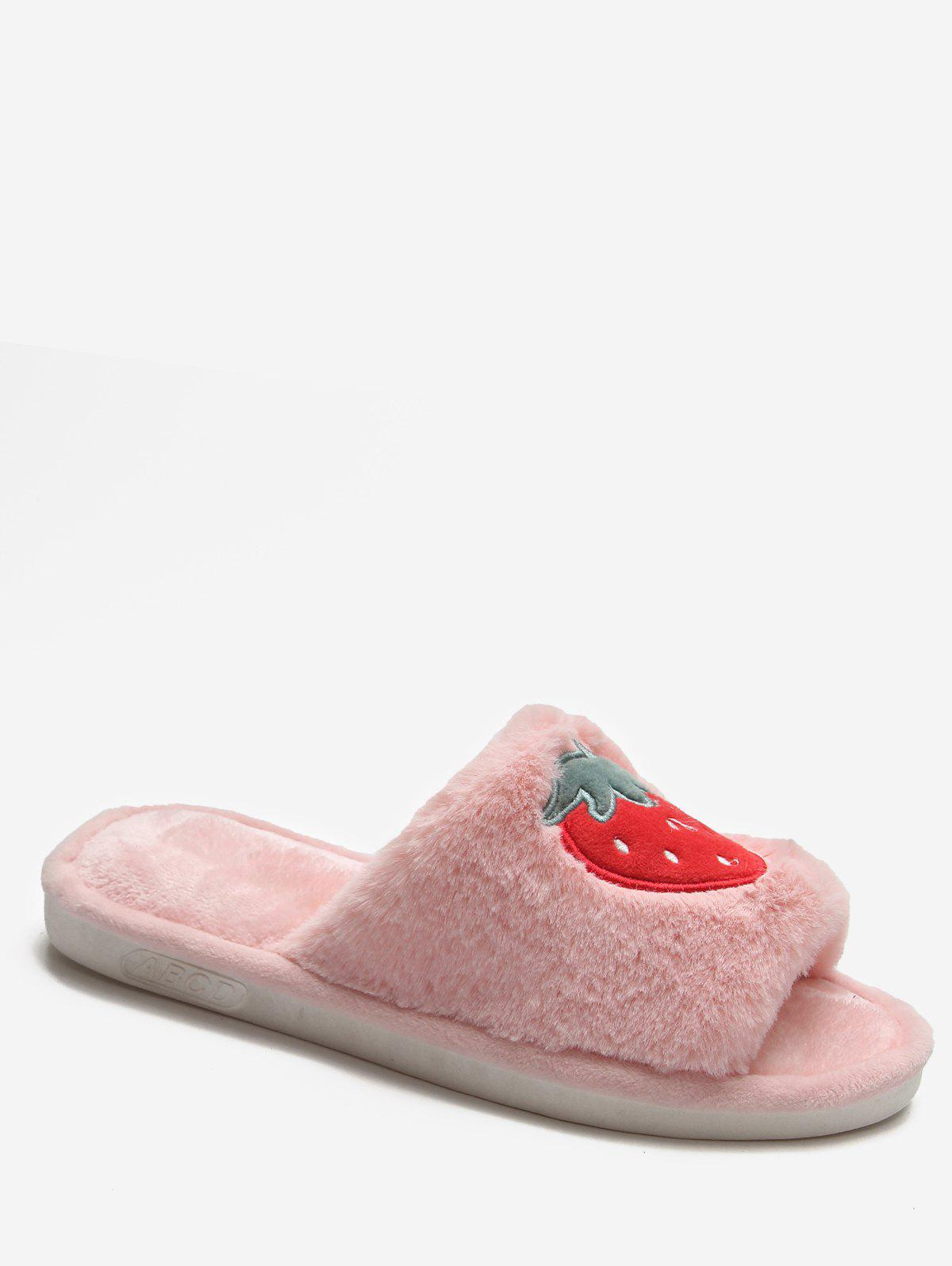 Store Cartoon Fruit Warm Fuzzy Slippers