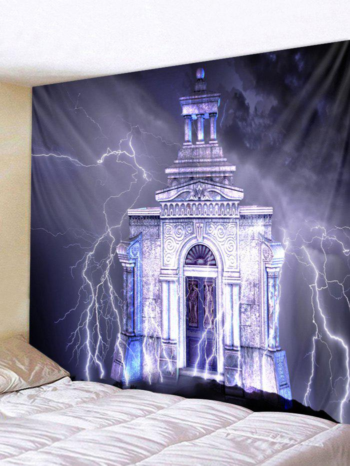 Cheap Lightning Castle Print Wall Tapestry Art Decoration