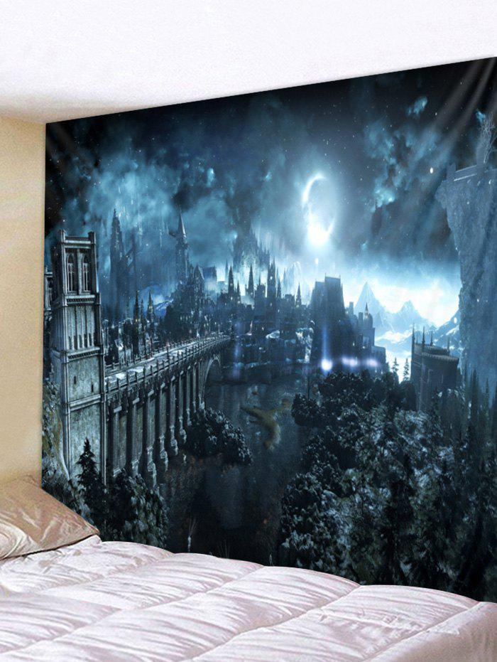 Fashion Halloween Night Print Wall Tapestry Decoration