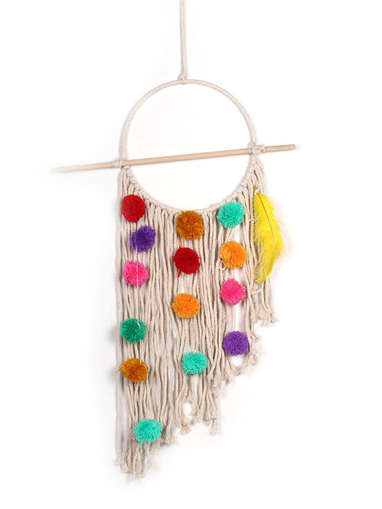 Cheap Pom Pom Handmade Macrame Wall Hanging Decoration