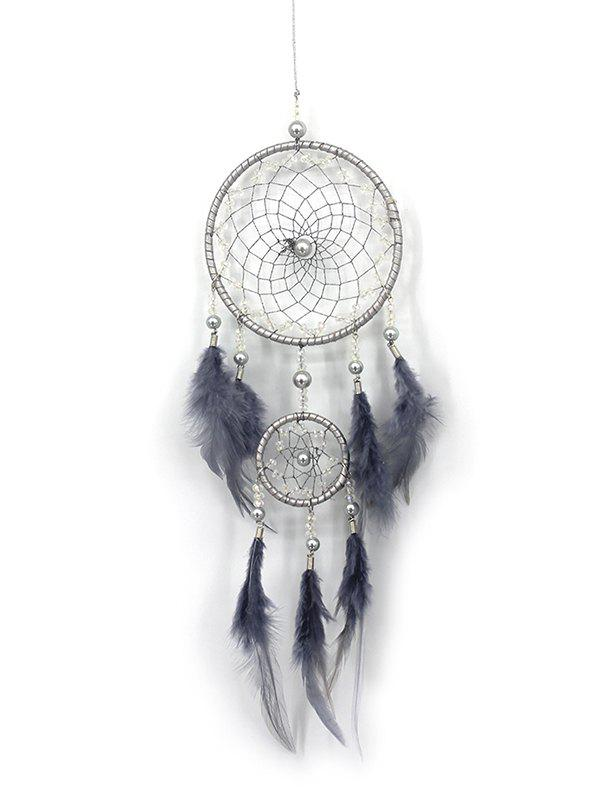 Outfit Handmade Feathers Fringed Dream Catcher Wall Hanging
