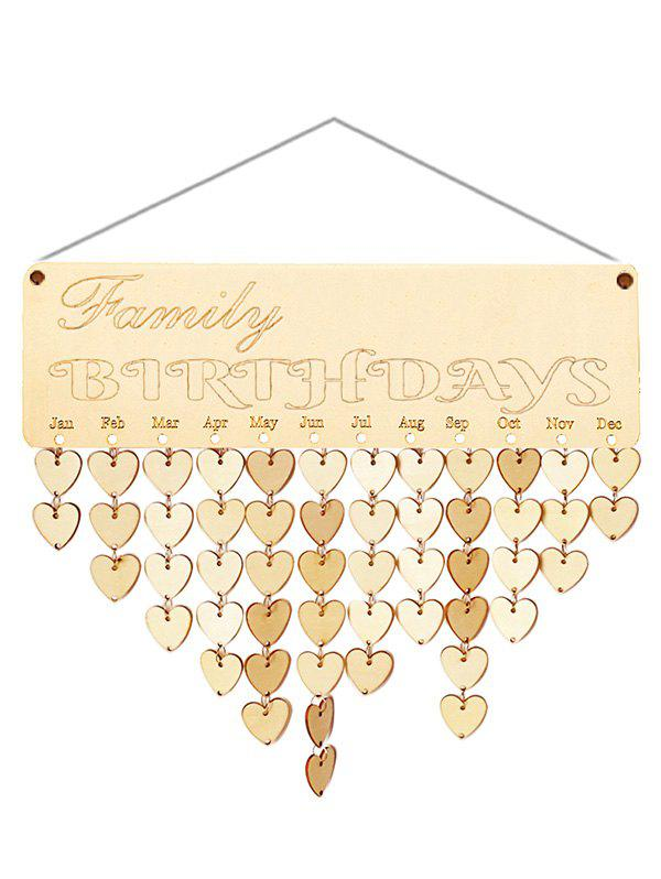 Best Wooden Family Birthday Calendar Reminder