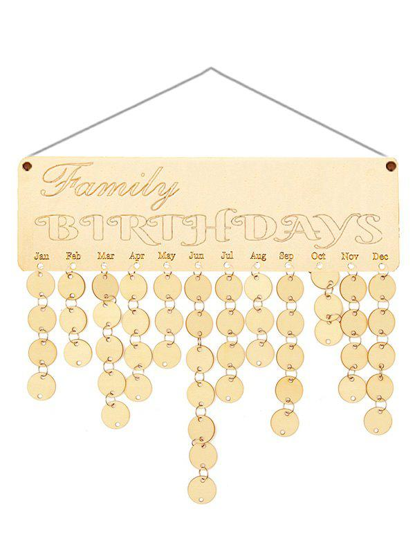39 Off 2018 Wooden Family Birthday Calendar Reminder In Burlywood