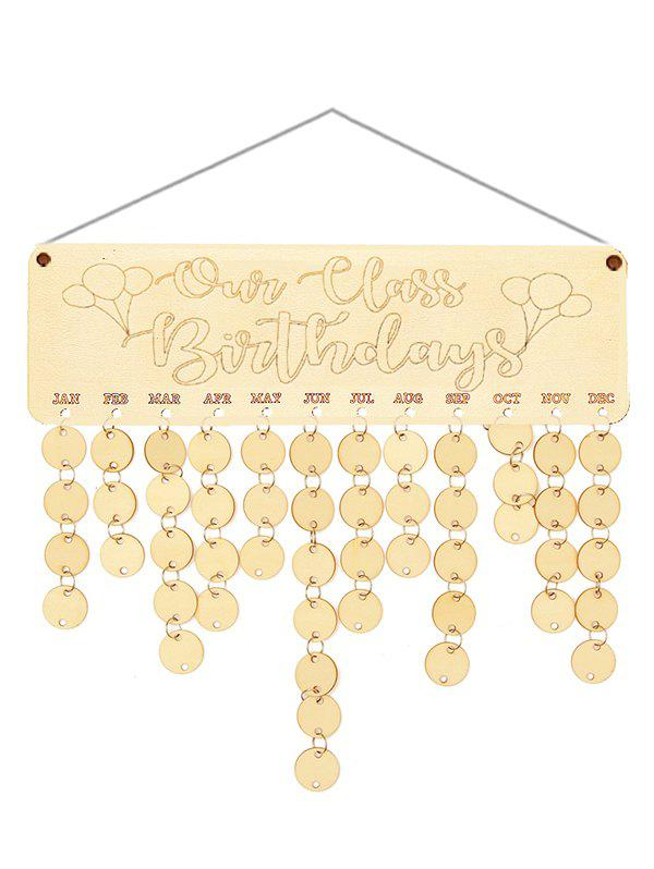 Discount Wooden Our Class Birthday Calendar Reminder